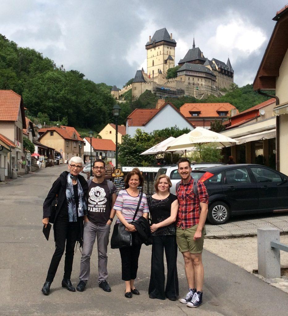 Karlštejn, 2016 (Valéria Molnár, Martin Šemelík, Marie Vachková, Alžběta Bezdíčková, Tomáš Koptík)